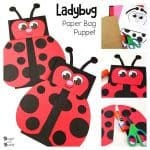 Paper Bag Puppet Ladybug Craft for Kids