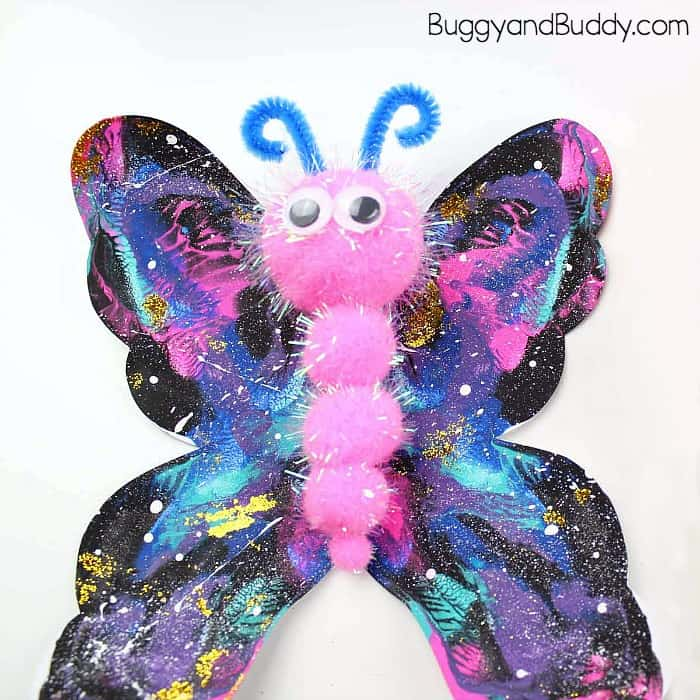 Galaxy Butterfly Art Project For Kids Buggy And Buddy
