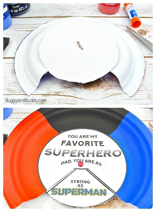 put a brad through both plates