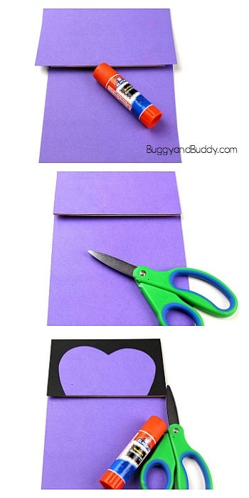 glue paper onto the paper bag to make your butterfly puppet