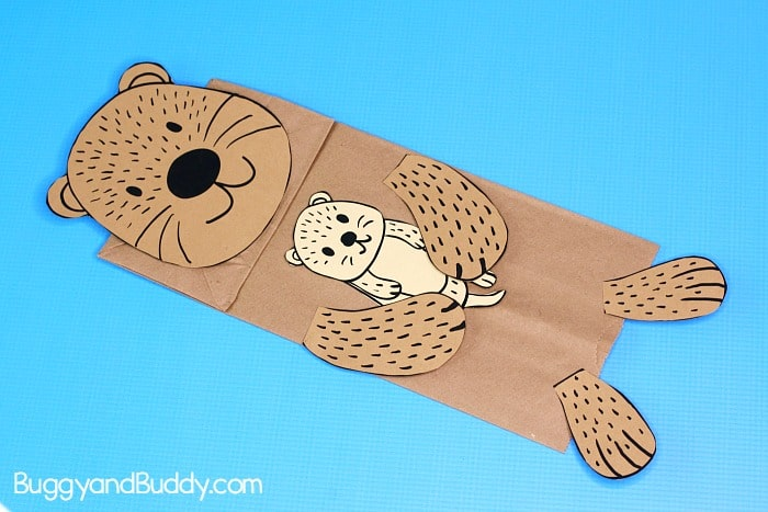 add details to your sea otter puppet craft
