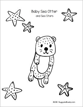 Paper Bag Sea Otter Craft For Kids With Free Printable Template