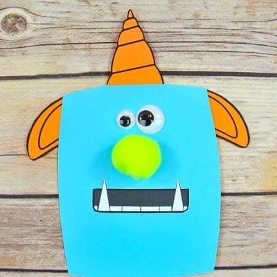 Paper Monster Craft for Kids