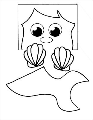 graphic about Printable Paper Bag Puppets named Mermaid Paper Bag Puppet - Buggy and Mate