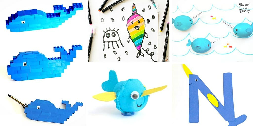 Adorable narwhal crafts and activities for kids