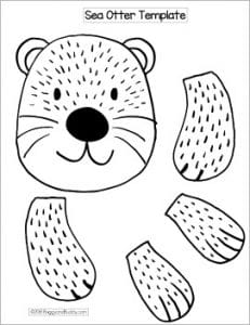 image relating to Printable Paper Bag Puppets named Sea Otter Paper Bag Puppet Craft with Totally free Template - Buggy