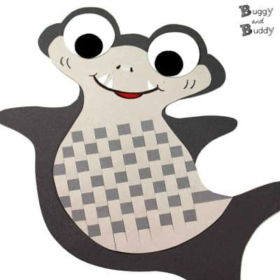 Woven Paper Shark Craft for Kids