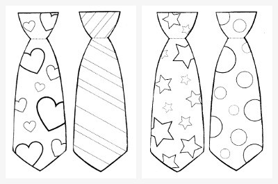 graphic relating to Father's Day Tie Template Printable called Fathers Working day Craft for Children: Black Glue and Watercolor Tie