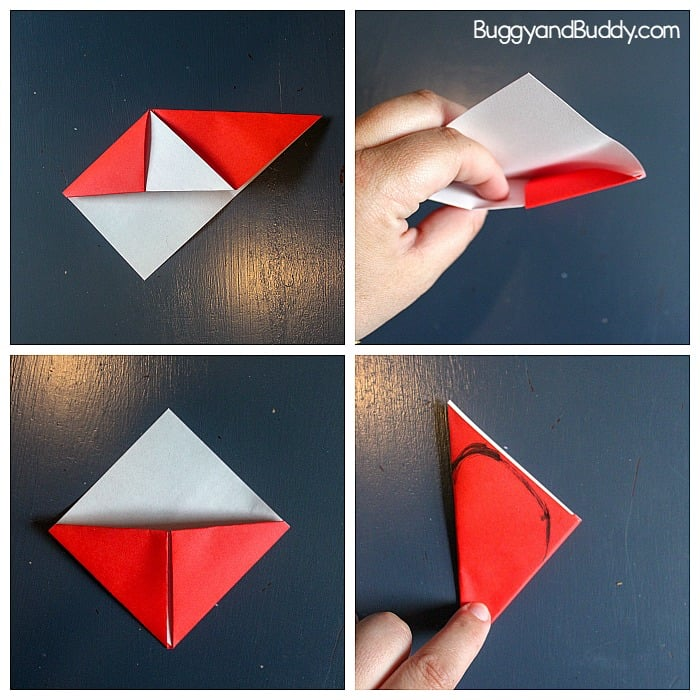 Origami Heart Valentine Bookmarks - The Idea Room | 700x700