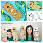Sea Otter Paper Bag Puppet Craft with Free Template