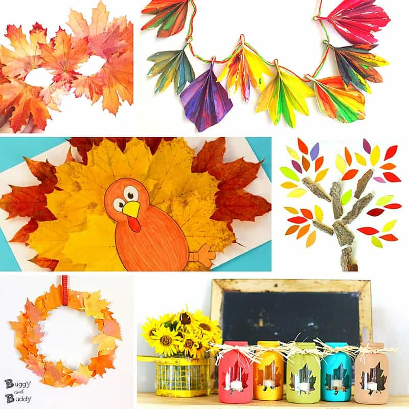 20 Fun And Inspiring Fall Leaf Crafts For Kids Buggy And Buddy