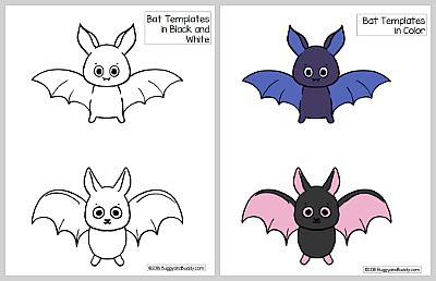 image about Bat Outline Printable known as Traveling Bat Straw Rockets with No cost Printable Bat Template