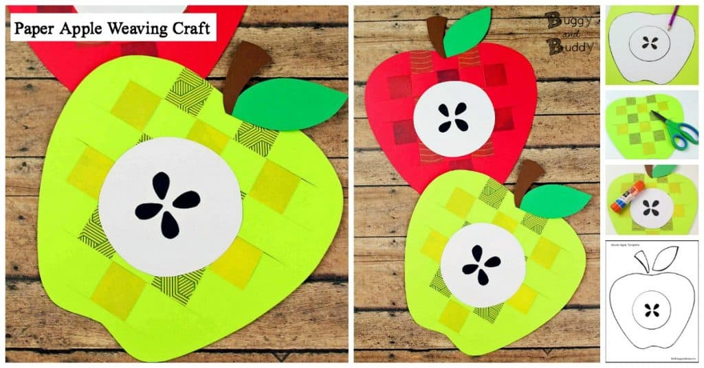 paper weaving apple craft for kids great for fall