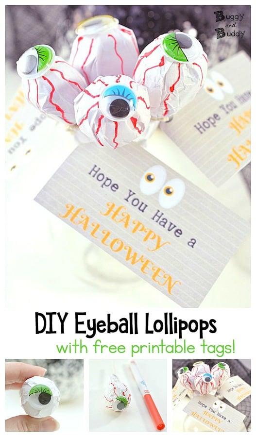 Diy Eyeball Lollipop Treat For Halloween Buggy And Buddy