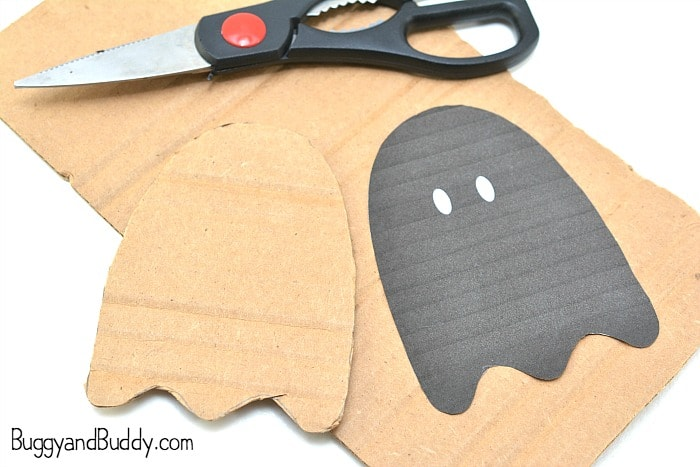 trace your ghost onto cardboard