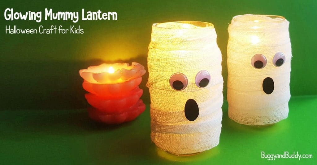 Diy Mason Jar Mummy Lantern Craft For Halloween Buggy And Buddy
