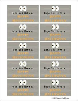 free halloween gift tags