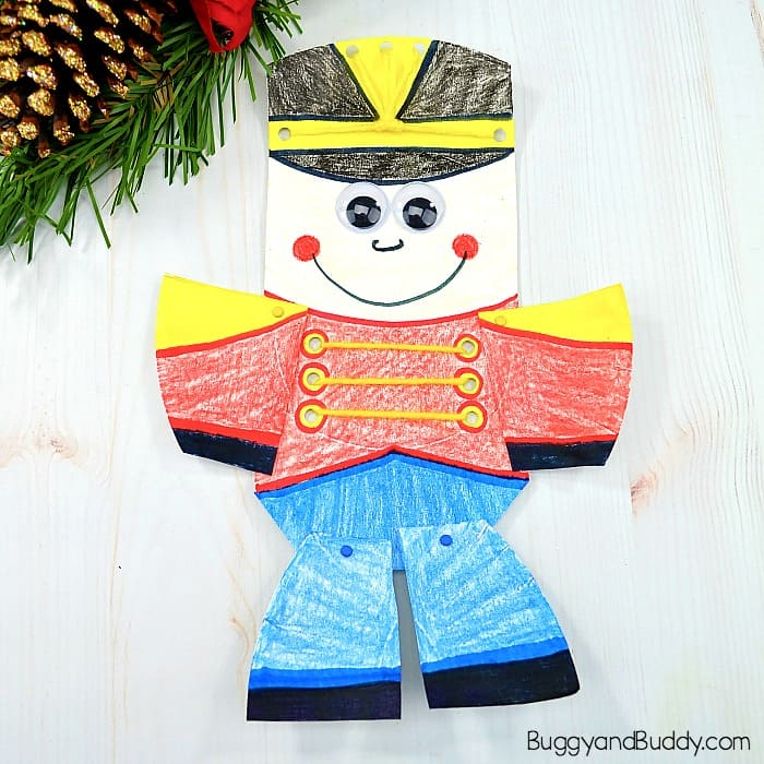 Moveable Paper Plate Nutcracker Craft For Kids Buggy And Buddy