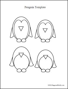 picture regarding Penguin Template Printable referred to as Waddling Penguin Winter season Craft for Children - Buggy and Pal