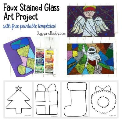 Christmas Faux Stained Glass Art Project for Kids