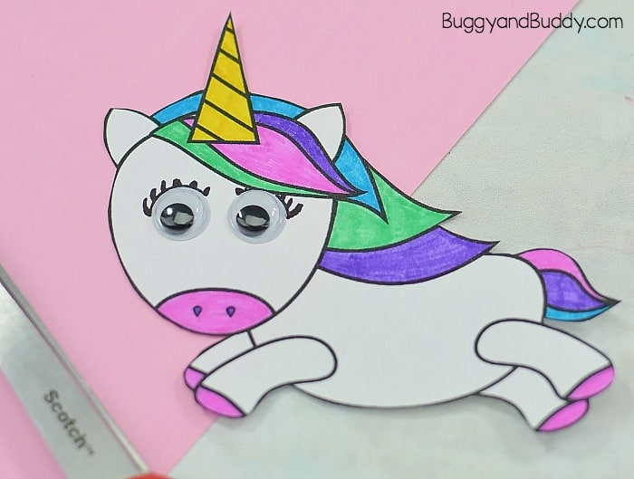 Unicorn And Rainbow Paper Plate Craft For Kids Buggy And Buddy