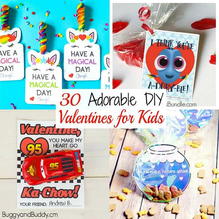 30 Diy Valentines For Kids Buggy And Buddy