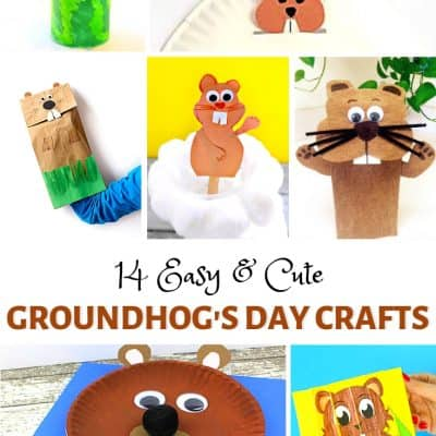 14 Easy & Cute Groundhog's Day Crafts