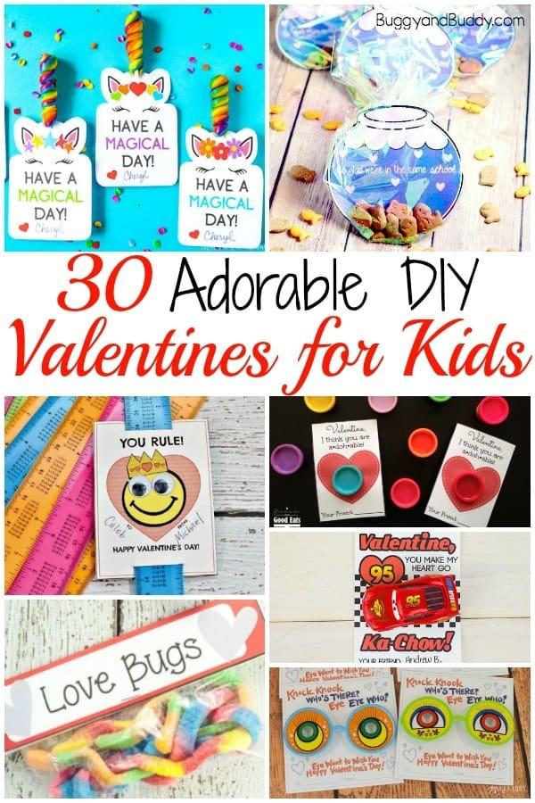 30+ DIY Valentines for Kids to Make for Valentine's Day
