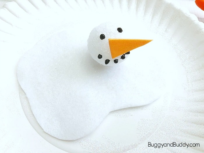 Paper Plate Melting Snowman Winter Craft For Kids Buggy And Buddy